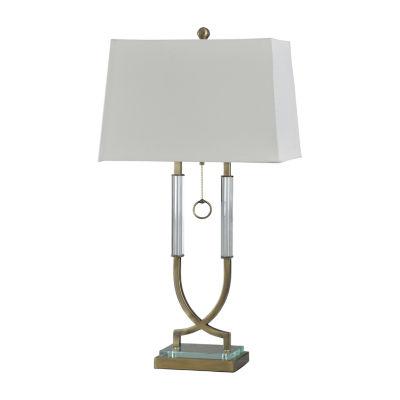 Stylecraft 18 W Antique Brass Acrylic Table Lamp