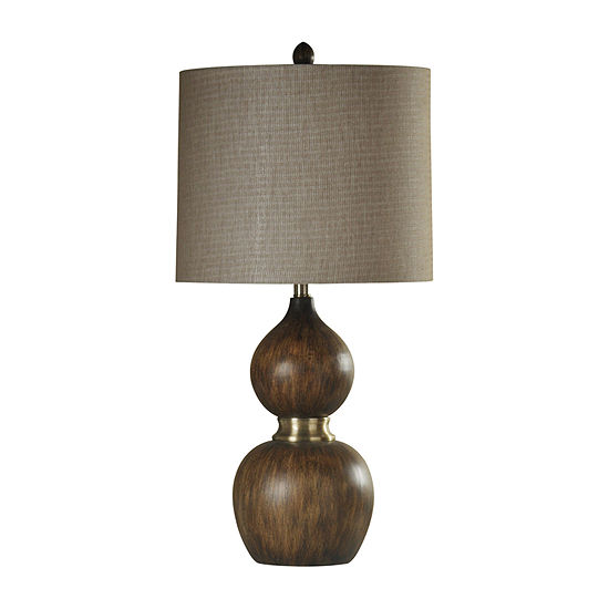 Stylecraft 15.5 W Natural & Brass Polyresin Table Lamp