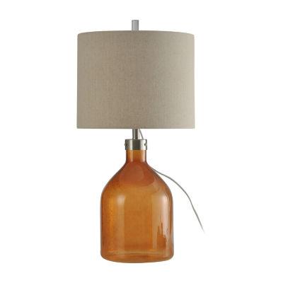 Stylecraft 15.5 W Amber Glass Table Lamp