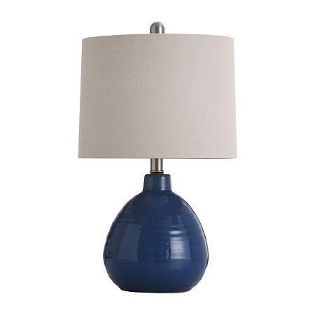 Stylecraft 12 W Sailor Navy Blue Ceramic Table Lamp, One Size , Blue
