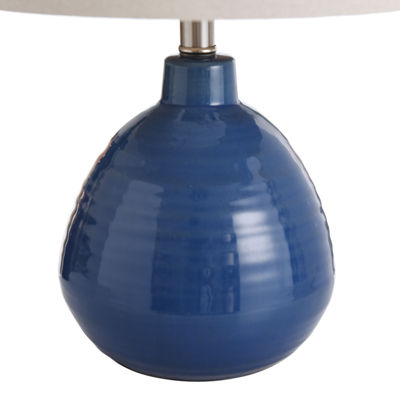 Stylecraft 12 W Sailor Navy Blue Ceramic Table Lamp