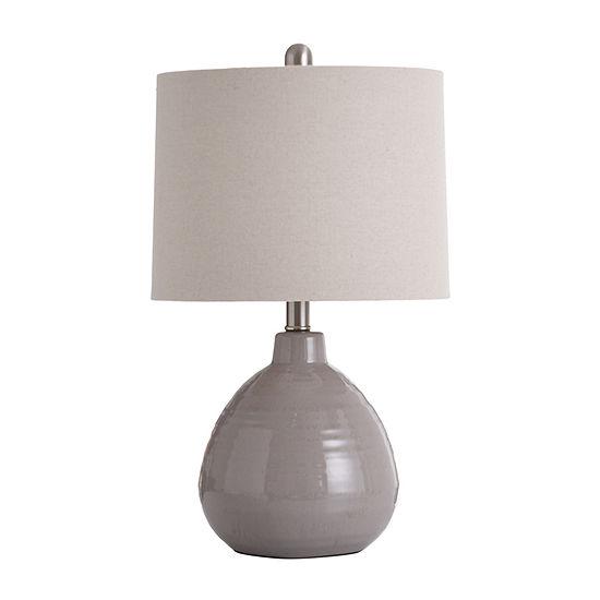 Stylecraft 12 W Glacier Gray Ceramic Table Lamp