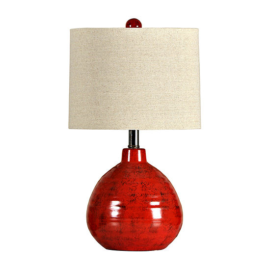 Stylecraft 12 W Red Ceramic Table Lamp