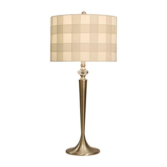 Stylecraft 15.3 W Brushed Steel Steel Table Lamp