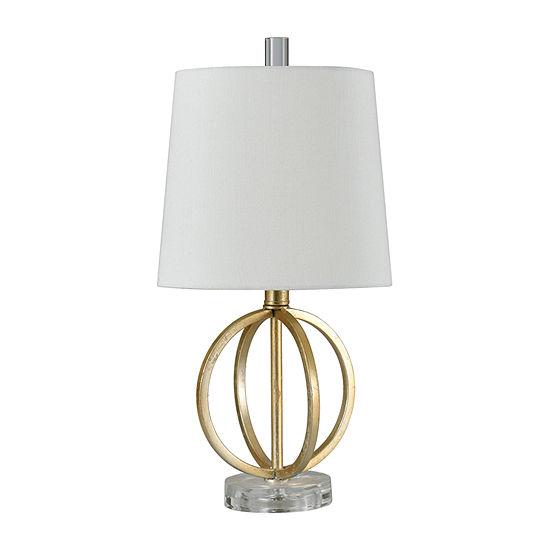 Stylecraft Flora 9.5 W Antique Gold Steel Table Lamp