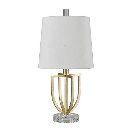 Stylecraft 9.5 W Antique Gold Steel Table Lamp