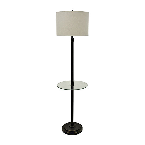 Stylecraft 16 W Madison Bronze Steel Floor Lamp