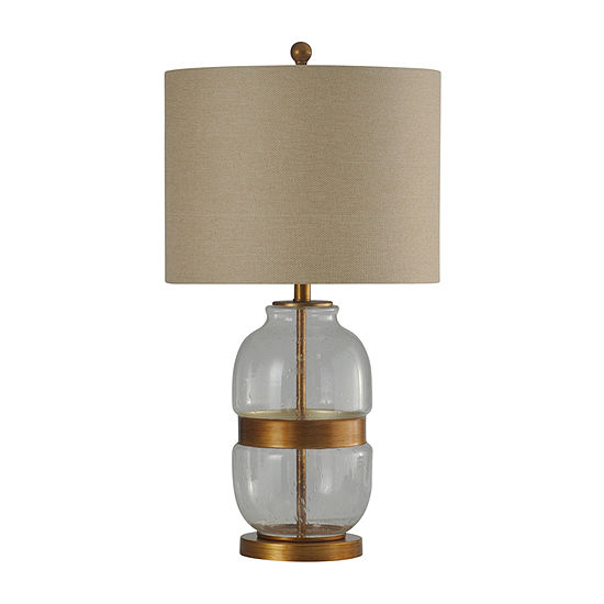 Stylecraft 16 W Clear And Gold Steel Table Lamp