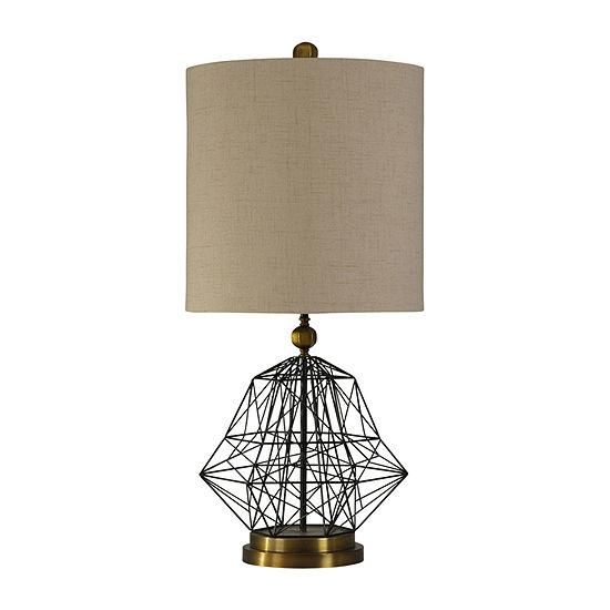 Stylecraft 18 W Black & Gold Steel Table Lamp