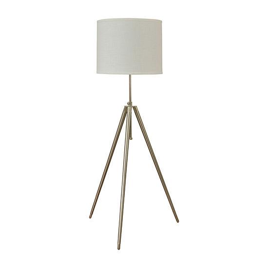 Stylecraft 28 W Brushed Steel Floor Lamp