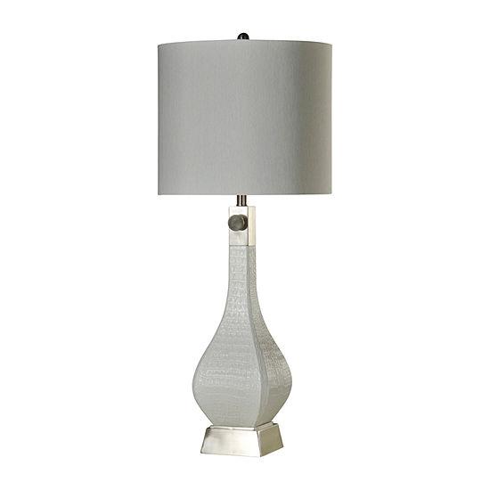Stylecraft 16 W White Steel Table Lamp