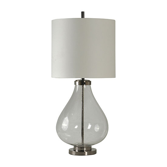 Stylecraft 18 W Chrome   Clear Steel Table Lamp