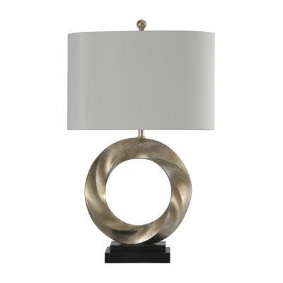 Stylecraft 18.5 W Silver Steel Table Lamp