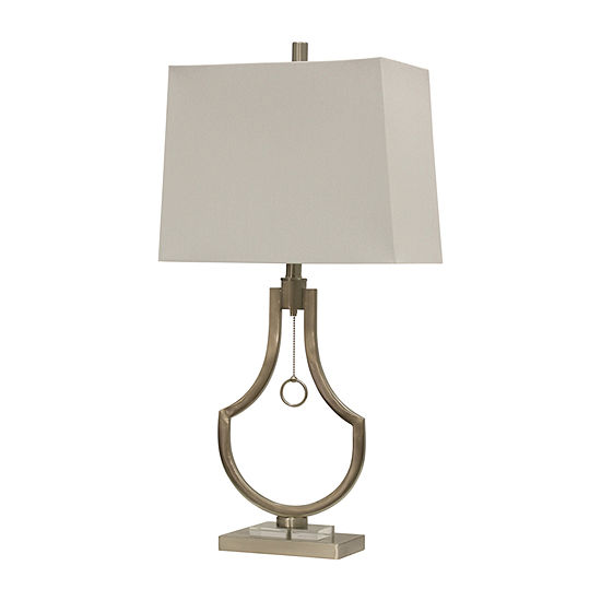 Stylecraft 155 W Brushed Steel Table Lamp