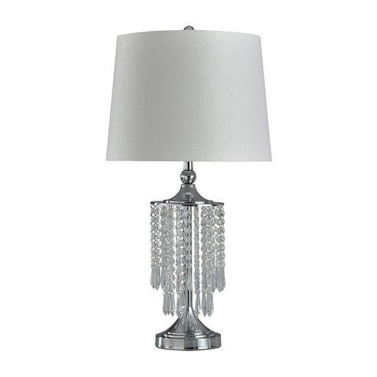 Stylecraft 16 W Chrome Steel Table Lamp