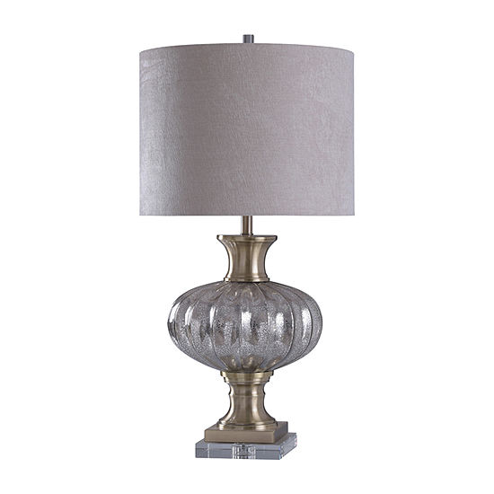 Stylecraft 18 W Gold & Silver Glass Table Lamp