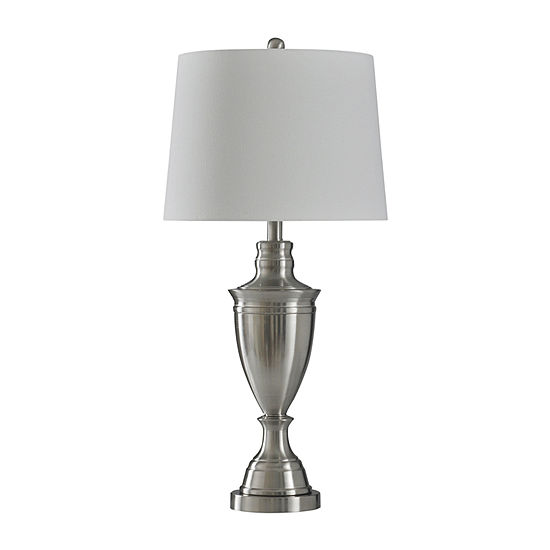 Stylecraft Transitional 15 W Silver Steel Table Lamp