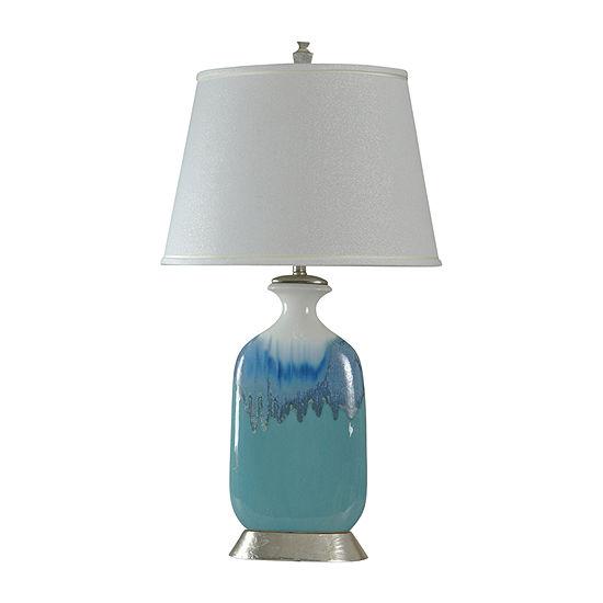 Stylecraft 19 W Blue & White Ceramic Table Lamp