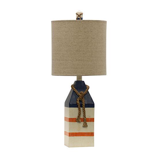 Stylecraft 10 W Blue & Orange Polyresin Table Lamp