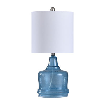 Stylecraft 10.5 W Cerulean Glass Table Lamp