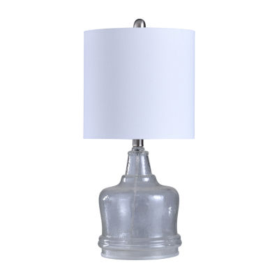 Stylecraft 10.5 W Clear Glass Table Lamp