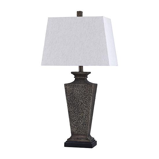 Stylecraft 16 W Bossier Bronze Polyresin Table Lamp