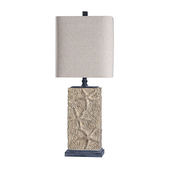 Stylecraft Arijean 13 W Cream Blue Polyresin Table Lamp