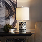 Stylecraft 10 W Black & White Ceramic Table Lamp