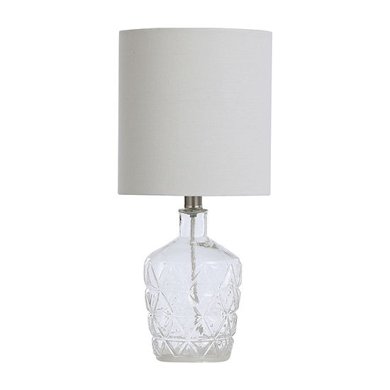 Stylecraft 8.5 W Clear Water Glass Table Lamp