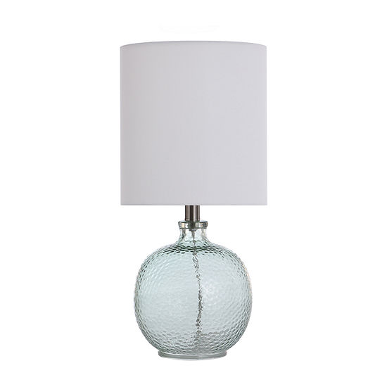 Stylecraft 9.5 W Light Aqua Blue Glass Table Lamp
