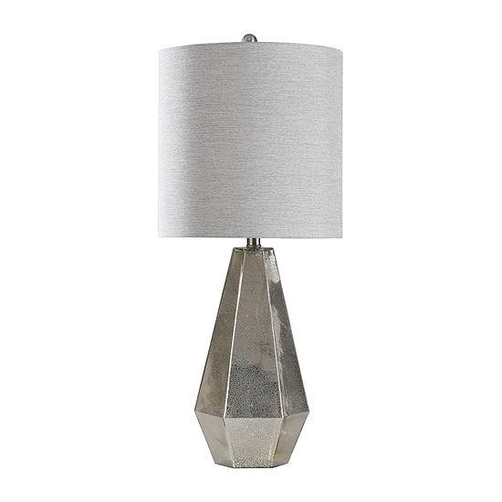 Stylecraft 13.5 W Mercury Glass Glass Table Lamp