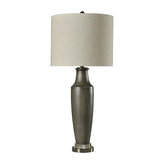 Stylecraft 17 W Gray Polyresin Table Lamp