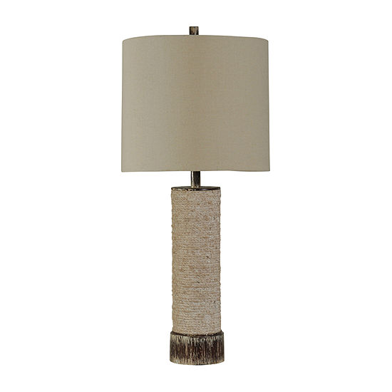 Stylecraft 15 W Beige Polyresin Table Lamp