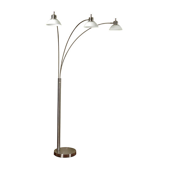Stylecraft 14 W Brushed Steel Metal Floor Lamp