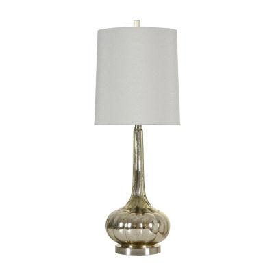 Stylecraft 12 W Mercury   Steel Glass Table Lamp
