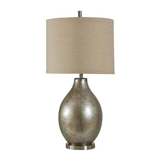 Stylecraft 18 W Mercury Glass Table Lamp