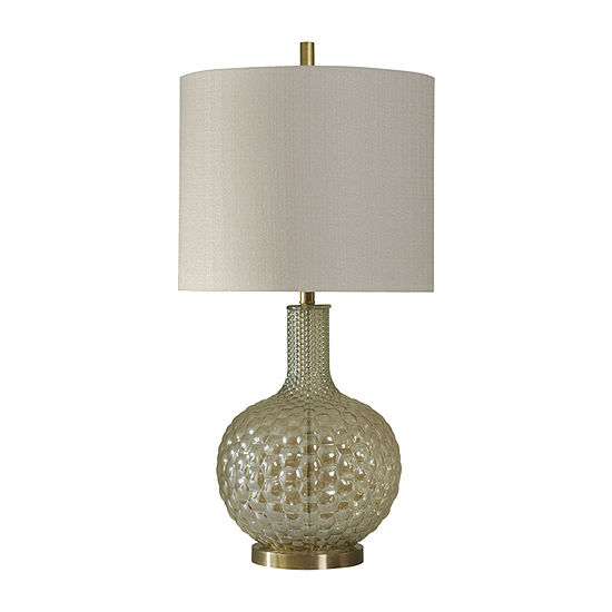Stylecraft 17 W Clear And Gold Glass Table Lamp