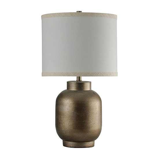 Stylecraft 18 5 W Hema Gold Polyresin Table Lamp