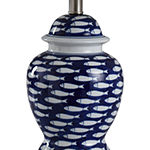 Stylecraft 12 W Blue And White Ceramic Table Lamp
