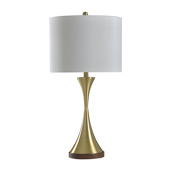 Stylecraft 15 W Brushed Brass Metal Table Lamp