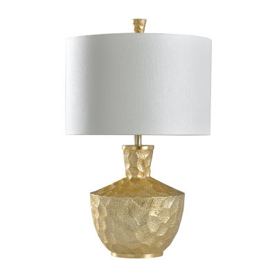 Stylecraft 18.5 W Gold Leaf Polyresin Table Lamp