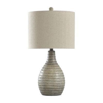 Stylecraft 13 W French Oak Polyresin Table Lamp