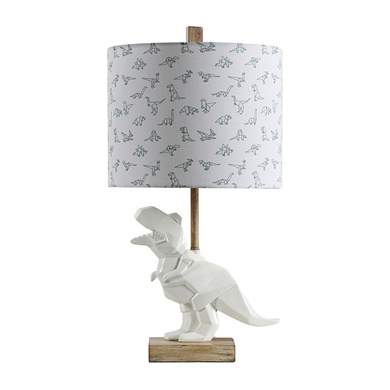 Stylecraft 13.5 W White & Taupe Polyresin Table Lamp