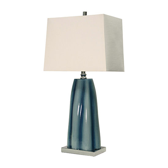 Stylecraft Diamond Shoals Glass Table Lamp