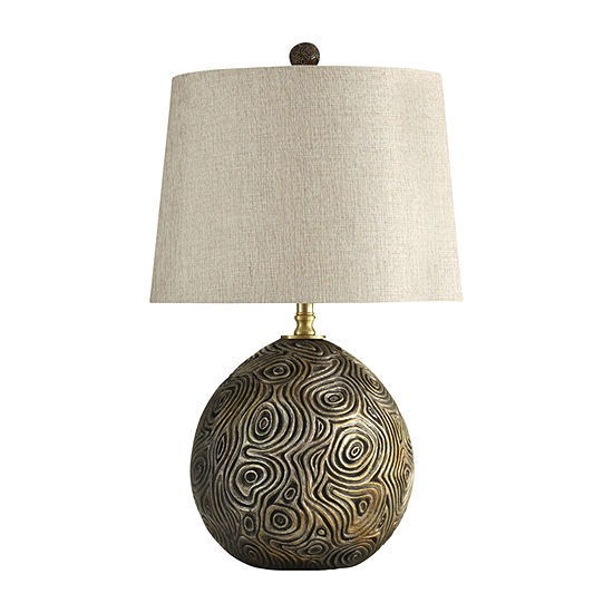 Stylecraft 175 W Distressed Gold Polyresin Table Lamp