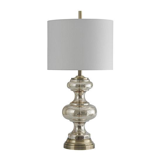 Stylecraft 16.5 W Mercury & Brass Glass Table Lamp