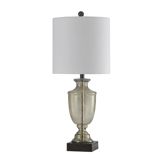 Stylecraft 12.5 W Smoke Seeded Glass Glass Table Lamp