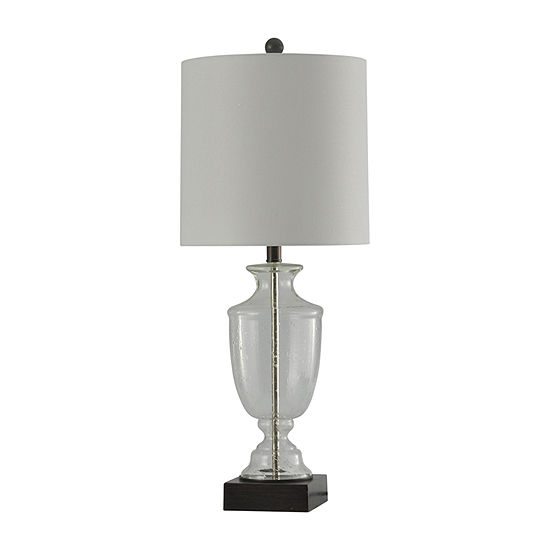 Stylecraft 12.5 W Seeded Glass Glass Table Lamp