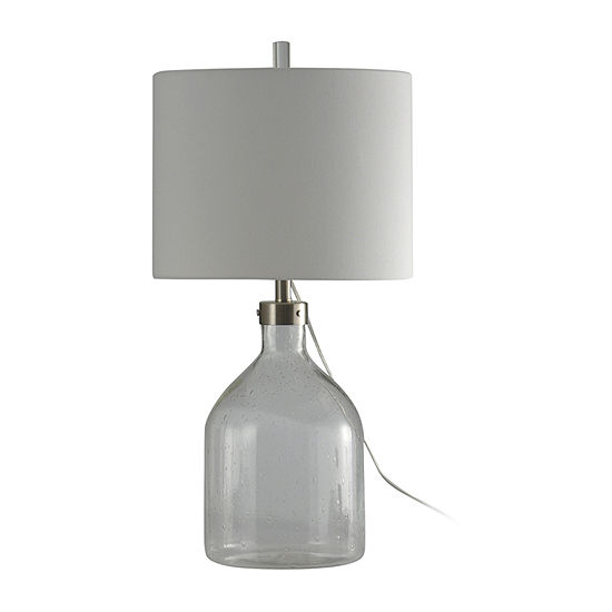 Stylecraft 15.5 W Clear Seeded Glass Table Lamp