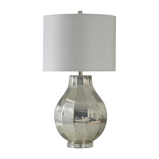 Stylecraft 16 W Silver Glass Table Lamp